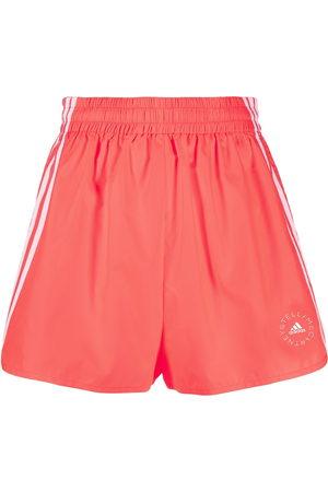 adidas Logo-print high-waisted running shorts