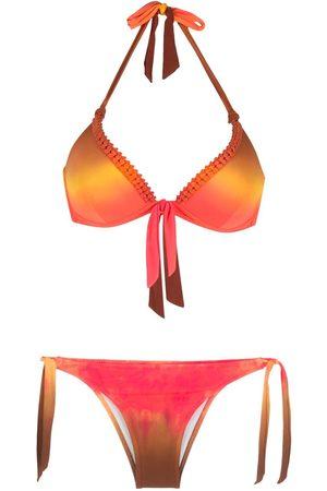 AMIR SLAMA Tie Dye bow-detai bikini set