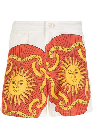 AMIR SLAMA Print Sol shorts