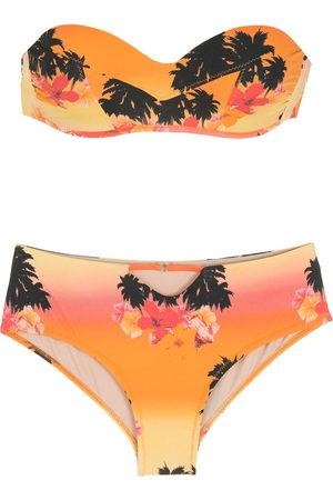 AMIR SLAMA Print Ilha de Hibiscus bikini set