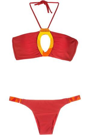 AMIR SLAMA Embroidered fibreglass bikini set