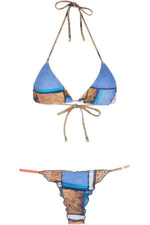 AMIR SLAMA Women Bikinis - Striped print Eco bikini set