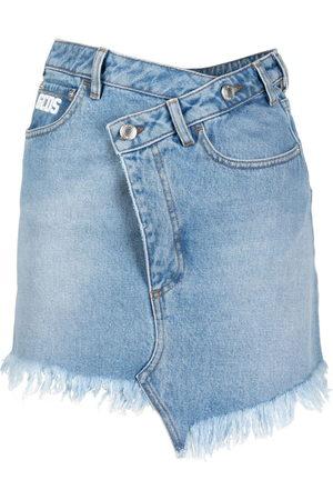 GCDS Asymmetric mini denim skirt