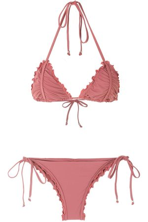 AMIR SLAMA Ripple effect bikini set