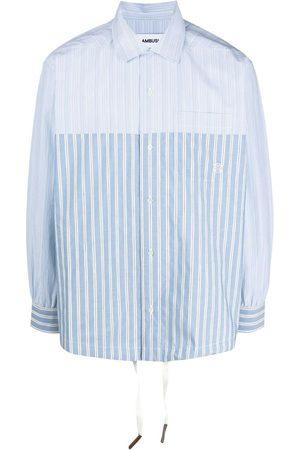 AMBUSH Men Business - Striped drawstring shirt