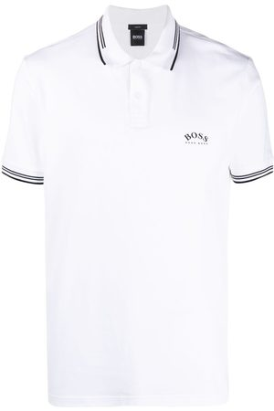 HUGO BOSS Logo-print cotton polo shirt