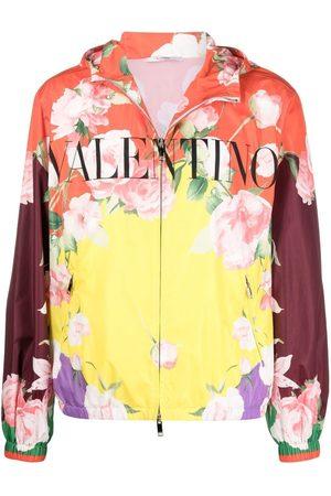 VALENTINO Floral-print hooded jacket