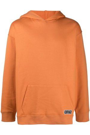 VALENTINO Men Hoodies - Logo-patch hoodie