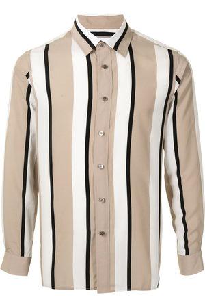 Ports V Men Casual - Vertical stripe print shirt