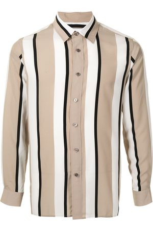 Ports V Vertical stripe print shirt