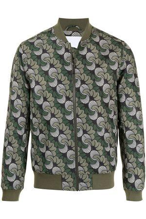 Ports V Abstract-print bomber jacket