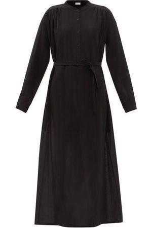 Raey Tie-waist Sheer Cotton-voile Shirt Dress - Womens