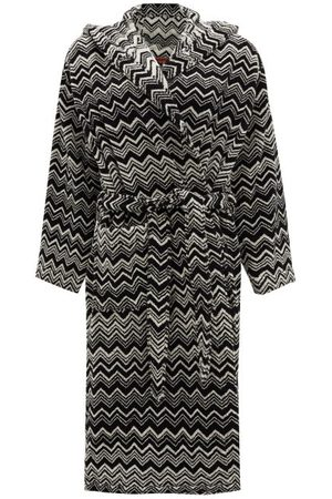 Missoni Keith Zigzag Hooded Cotton-terry Bathrobe - Womens