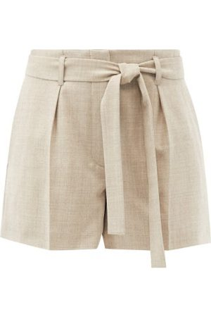 Raey Belted Wool-blend Tailored Shorts - Womens