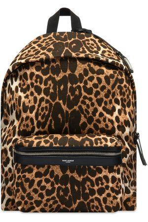 Saint Laurent Leopard City Backpack