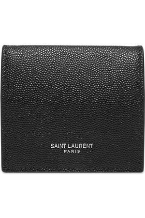Saint Laurent Men Wallets - Pebble Leather Billfold Coin Wallet