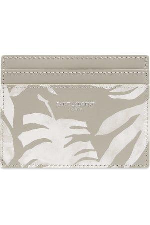 Saint Laurent Men Wallets - Palm Print Credit Card Holder