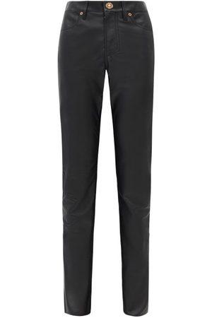 GABRIELA HEARST Charles Leather Slim-leg Trousers - Womens