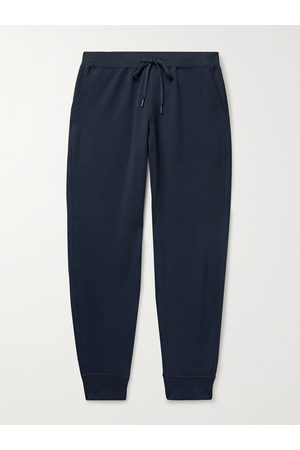 Handvaerk Flex Tapered Loopback Stretch Pima Cotton-Jersey Sweatpants