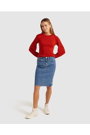 Sportscraft Brodie Denim Skirt - Denim skirts (Mid Wash) Brodie Denim Skirt