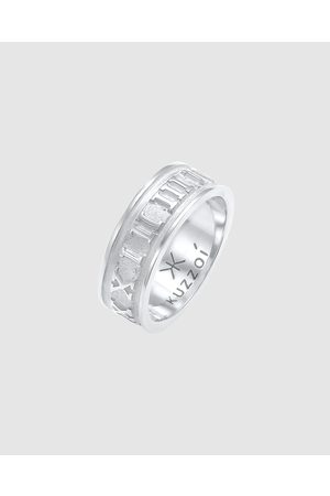 Kuzzoi Ring Bandring Roman Numbers in 925 Sterling - Jewellery Ring Bandring Roman Numbers in 925 Sterling