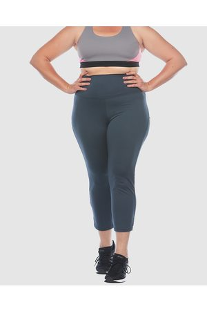 Curvy Chic Sports High Waisted Active Sculpt Tights - 3/4 Tights (Charcoal) High Waisted Active Sculpt Tights