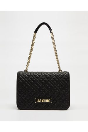 Love Moschino Large Quilted Soft Shoulder Bag - Handbags (Nero) Large Quilted Soft Shoulder Bag