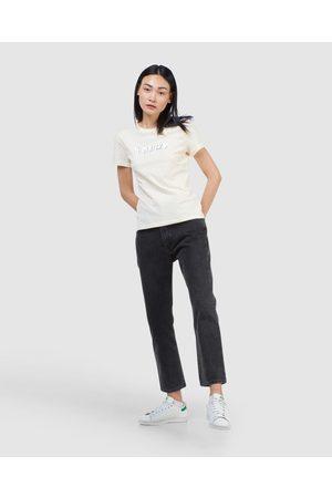 Superdry Core Logo Patina Tee - T-Shirts (Cream) Core Logo Patina Tee