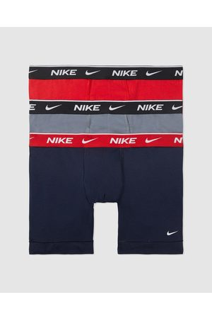Nike Everyday Cotton Stretch Boxer Briefs 3 Pack - Underwear & Socks (Obsidian, Cool & University ) Everyday Cotton Stretch Boxer Briefs - 3 Pack