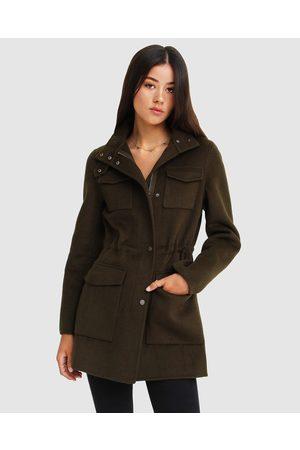 Belle & Bloom Heartbreaker Wool Blend Utility Coat - Coats & Jackets (Military) Heartbreaker Wool Blend Utility Coat