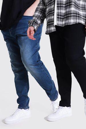 Boohoo Men Skinny - Mens Multi 2 Pack Plus Size Stretch Skinny Fit Jean
