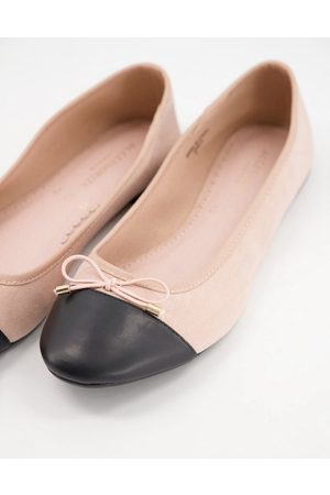 Accessorize Round toe bow ballet flats in pale pink