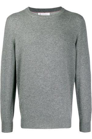 Brunello Cucinelli Men Sweatshirts - Crew-neck cashmere jumper