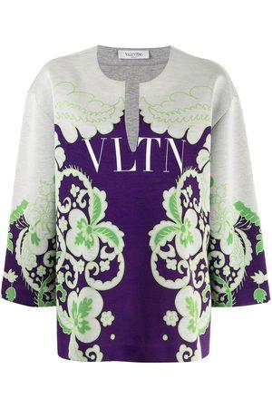 Valentino VLTN floral-print sweatshirt