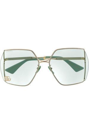 Gucci Sunglasses - Double G oversized-frame sunglasses