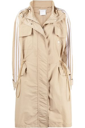 adidas Women Parkas - Logo-print 3 stripe parka coat