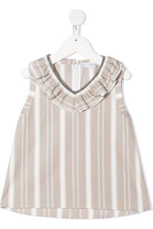 Brunello Cucinelli Ruffle neckline blouse