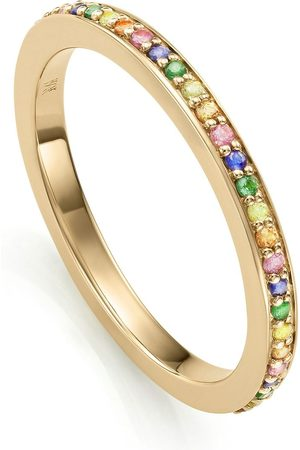 Monica Vinader Skinny sapphire eternity ring
