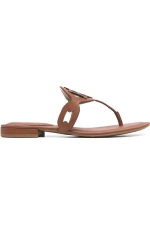 Ralph Lauren Audrie flat leather sandals