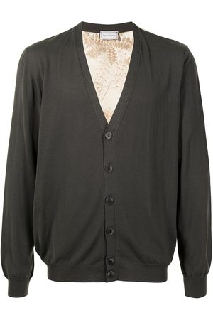 PIERRE-LOUIS MASCIA Men Cardigans - Printed back cardigan