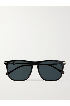 GUCCI Men Sunglasses - D-Frame Acetate and Gold-Tone Sunglasses