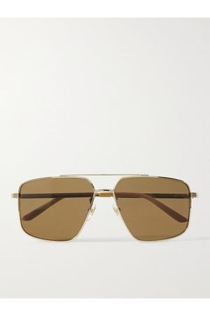 GUCCI Men Sunglasses - Aviator-Style -Tone Sunglasses
