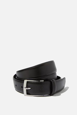 Cotton On Men Dress Belt - Black/silver