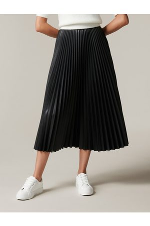 Forever New Women Leather Skirts - Stevie Faux Leather Pleated Skirt