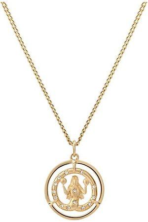 MIANSAI Eternita 14K Gold Vermeil & Sapphire ID Chain Pendant Necklace