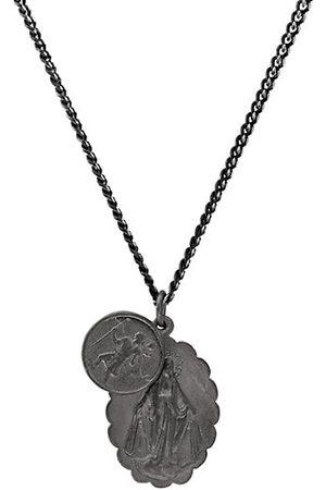 MIANSAI Mini Saints Rhodium Pendant Necklace