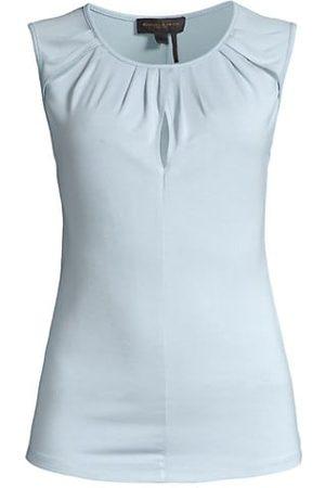 Donna Karan Rayon Jersey Slit Top