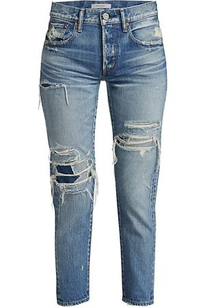Moussy Louisville Tapered Distressed Jeans