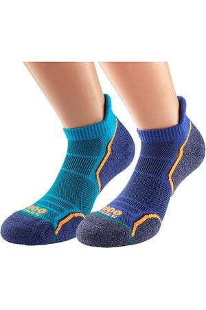 1000 Mile Run Socklet Mens Sports Socks - Twin Pack
