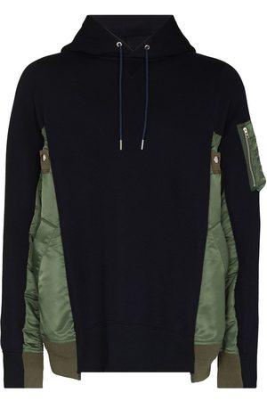SACAI Men Hoodies - Two-tone panelled hoodie